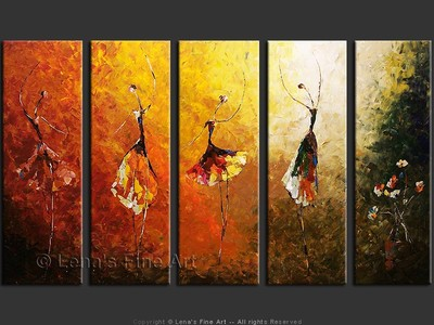 Ballet Sinfonietta - original canvas painting by Lena