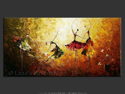 Bravissimo! - original canvas painting by Lena