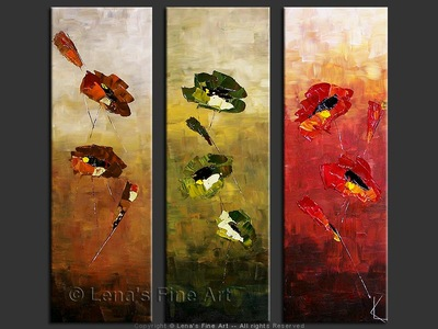 Three Colors of Love - contemporary painting