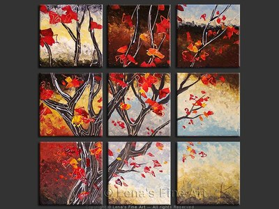 Red Leaves - home decor art