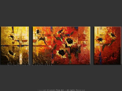 Sunflowers by the Fence - art for sale