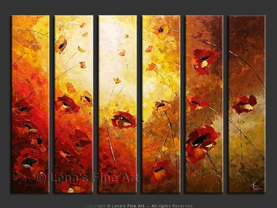 Poppies at Sunset - contemporary painting