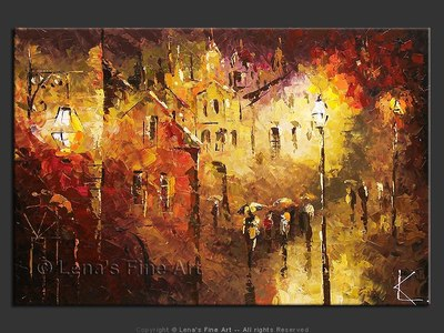 Rain In Old Town - art for sale