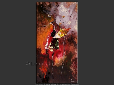 The Wonderful World of Ballet - original canvas painting by Lena