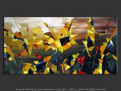 Sunflower Fantasy - modern artwork