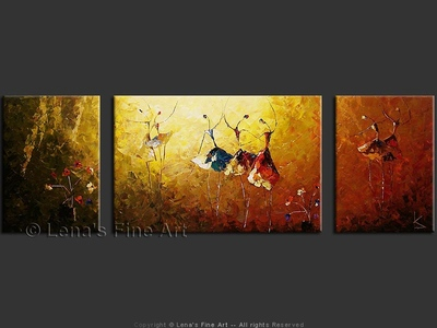 A Night At The Ballet - original canvas painting by Lena