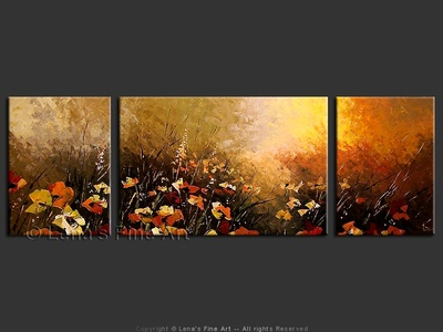 Spring Meadows - modern artwork