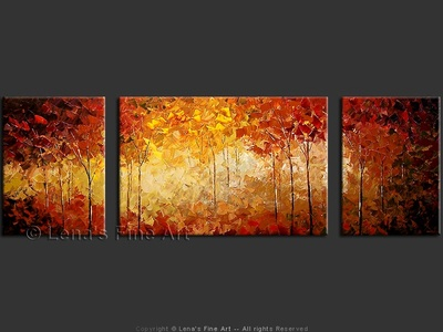 Autumn Woodland - original painting by Lena Karpinsky