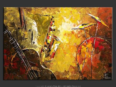 Olive Jazz - modern artwork