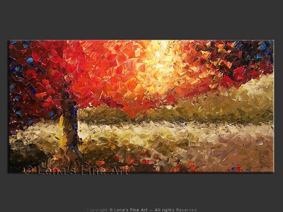 Northern Sunset - contemporary painting