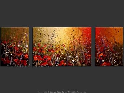 Scarlet Poppy Field - wall art