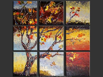 Windy Autumn Window - original painting by Lena Karpinsky