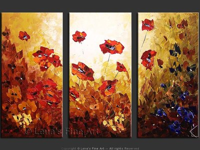 Tender Poppies - contemporary painting