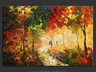 Autumn Park - contemporary painting