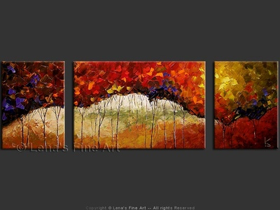Redwood Tales - contemporary painting