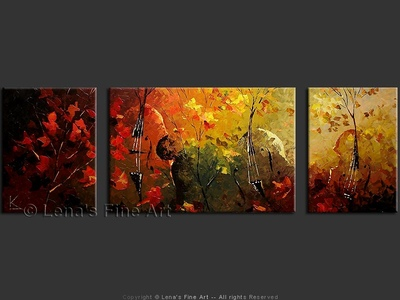 Maple Leaf Symphony - contemporary painting