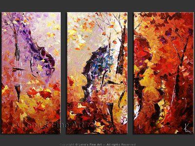 Purple Woods - modern artwork