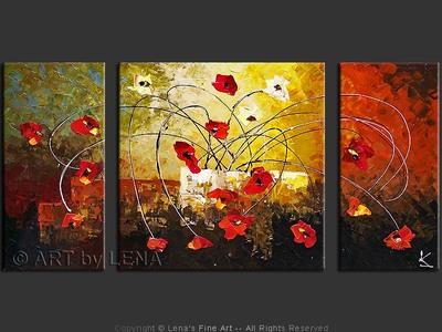 February Ikebana - original canvas painting by Lena