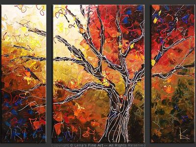Old Tree - original canvas painting by Lena