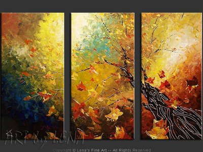 Autumn Sky - original painting by Lena Karpinsky