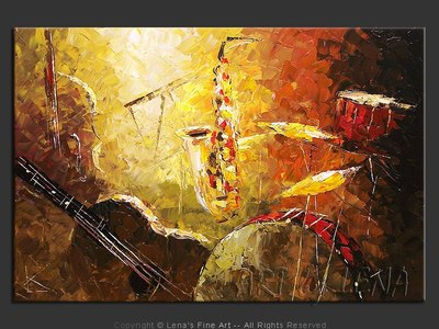 Acoustic Jazz - modern artwork
