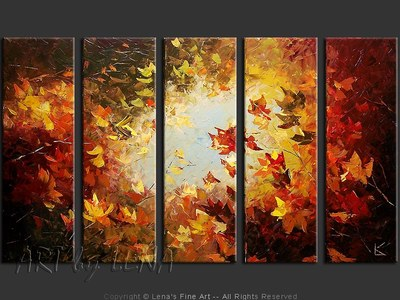 Maples and Sky - original painting by Lena Karpinsky