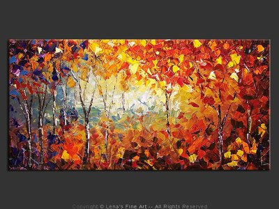 Autumn Memories - original painting by Lena Karpinsky