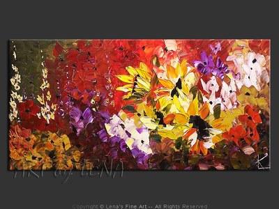 It's Always Sunny Here - original painting by Lena Karpinsky