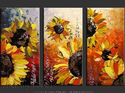 Giant Sunflowers - modern artwork
