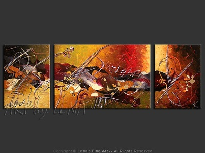 Amazing Cellos: Finale - original canvas painting by Lena