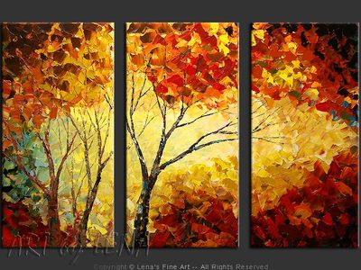 Autumn In The Lake Region - contemporary painting