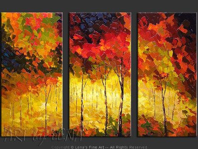 September Sunlight - original painting by Lena Karpinsky