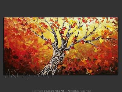 Japanese Maple - original painting by Lena Karpinsky