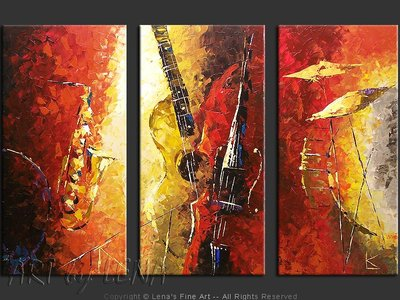 A Jazz Symphony - original canvas painting by Lena