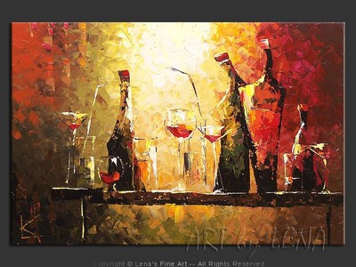 Our Friday Evening - original painting by Lena Karpinsky