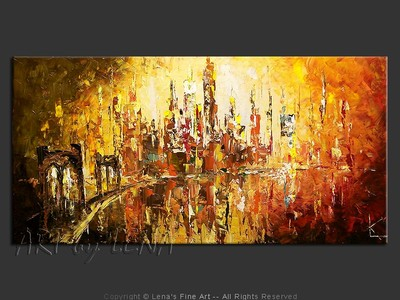 Gotham Sunset - contemporary painting