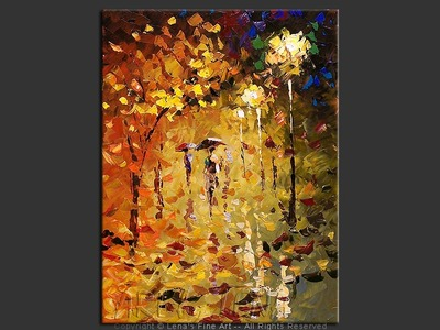 Autumn Alley - original painting by Lena Karpinsky