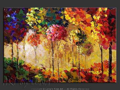 Fantastic Autumn - original painting by Lena Karpinsky
