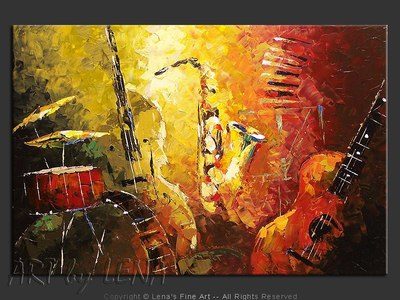 Jazz Fusion - original painting by Lena Karpinsky
