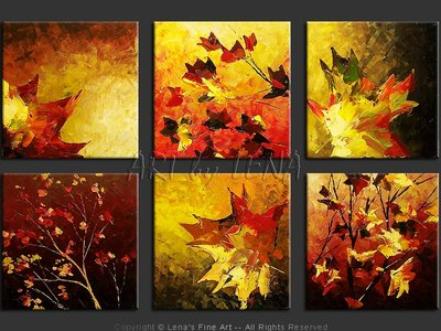 Autumn Fragments - home decor art