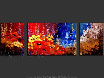 Reds and Blues - contemporary painting
