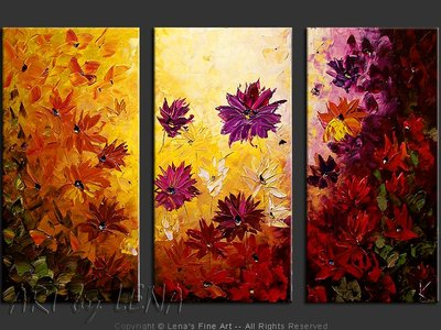 Purple Asters - contemporary painting