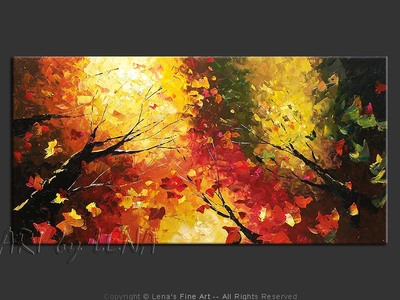 Forest Guardians - original canvas painting by Lena