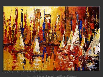 Sails In The City - wall art