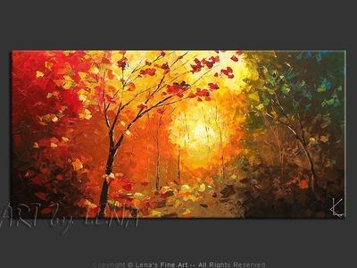 Green Mountain Forest - modern artwork