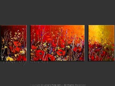 Red Fields - art for sale