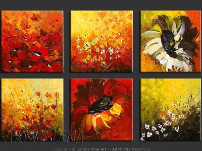 In the World of Flowers - home decor art