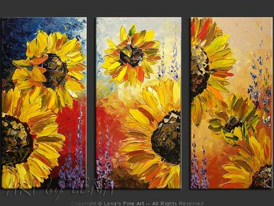 Amazing Sunflowers - contemporary painting