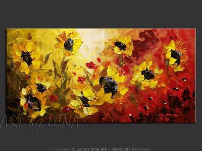 Pieces of Sun in my Garden - modern artwork