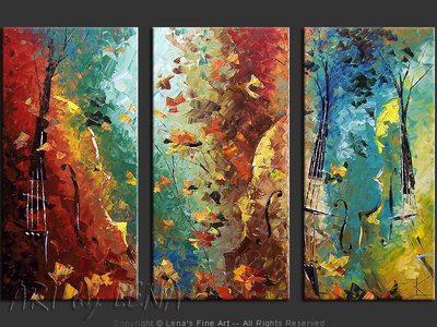 La Valse Turquoise - wall art